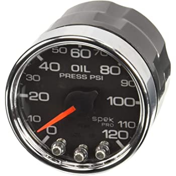 AUTOMETER Spek-Pro Oil Pressure Gauge 0-120psi 2-1//16 P32552