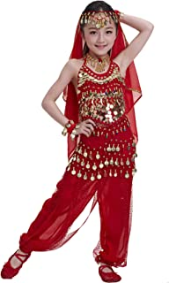 Astage Kids Princess Girl Indian Belly Dance Costume Cosplay Bollywood Ornaments