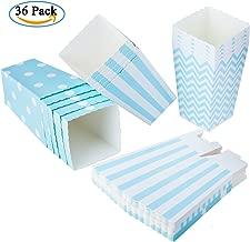 Diealles 36PCS Mini caja de palomitas de maíz para fiestas Caja de dulces para bocadillos, dulces, palomitas de maíz y regalos de fiesta - Azul