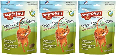 (3 Pack) Smart n' Tasty Cat Tuna Dental Grain-Free Treats 3 Ounces each