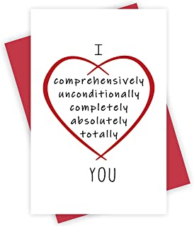 Romantic Valentines Day Card, Love You Card, Anniversary Card, Birthday Card for Your Darling