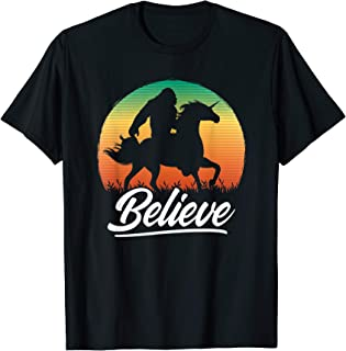 Bigfoot Riding Unicorn T-Shirt Vintage Sasquatch Gift