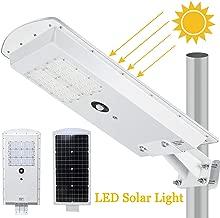 LEDMO Solar LED Street Light 3-Mode Setting Lithium Battery Cordless Solar Powered 6500k