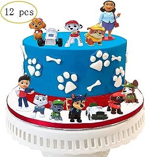 12PCS Paw Dog Patrol Cake Topper Mini Figures Baby Show Birthday Party Cake Decoration Supplie