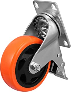 VILLCASE Roulettes pivotantes en caoutchouc TPR de 10,2 cm avec double verrouillage de sécurité pour meubles, armoires, ch...