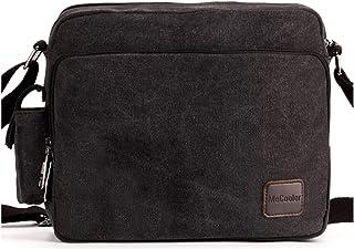 408865b992 MeCooler Men's Canvas Weekender Messenger Bag for Travel Crossbody Sports  Over Shoulder Vintage Military Overnight Casual