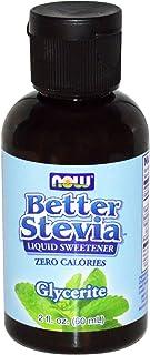 Now Foods, Better Stevia Liquid Sweetener, Glycerite, Alcohol-Free, 2 fl oz (60 ml) - 2PC