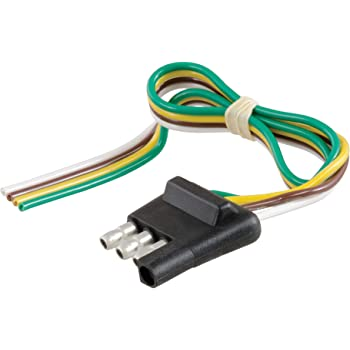 Amazon Com Curt 58671 Vehicle Side And Trailer Side 4 Pin Round Wiring Harness Connectors Automotive