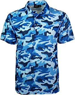 Men's Made in USA Camouflage Camo Polo Shirt with Moisture Wicking Polyester