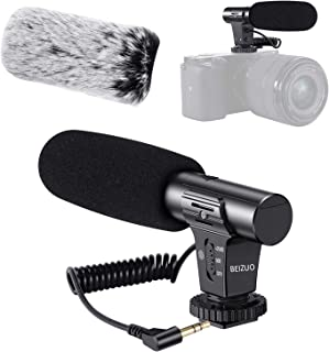 Camera Microphone, Video Microphone Works for Canon Nikon Sony Panasonic Fuji Camera,DSLR Interview Shotgun Mic with Winds...