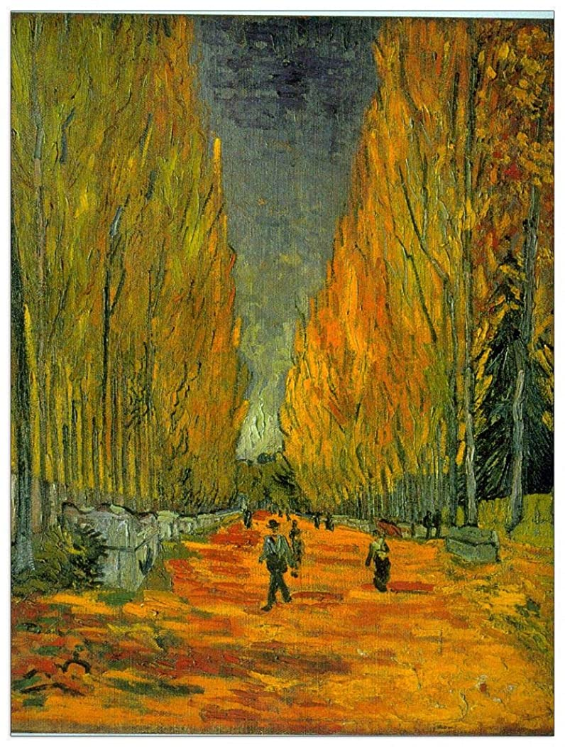 ArtPlaza TW90550 Van Gogh Vincent - Alyscamps Decorative Panel 27.5x35.5 Inch Multicolored