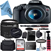$374 » Canon EOS Rebel T7 DSLR Camera with 18-55mm Lens + SanDisk 32GB Card, Tripod, Case, and More (20pc Bundle) (18-55MM +32GB Accessory Kit)