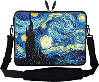 Meffort Inc 17 17.3 inch Neoprene Laptop Sleeve Bag Carrying Case with Hidden Handle and Adjustable Shoulder Strap - The Starring Night