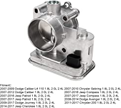 Superfastracing Complete Throttle Body With IAC Idle Air Control TPS Actuator Assembly for Chrysler 200/Sebring Dodge Journey/Avenger Jeep Cherokee/Patriot Replace 04891735AC 4891735AB 4891735 977-025