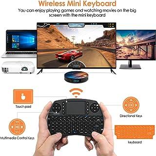Mini Teclado retroiluminado BANFAO, 2,4 GHz con combinación de Mouse con Panel táctil, Controlador Recargable, Compatible con Android TV Box, IPTV, HTPC, Smart TV, PC, X-Box