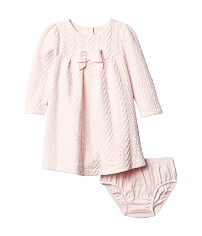 Janie and Jack Quilted Bow Dress (Infant) (Pink) Girl