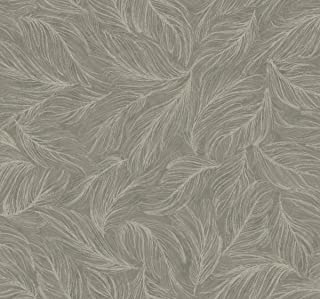 Décor Direct YWBH8361 Light As A Feather Wallpaper, x 27 ft. = 60.75 sq.ft, in Greys, Metallic Silver