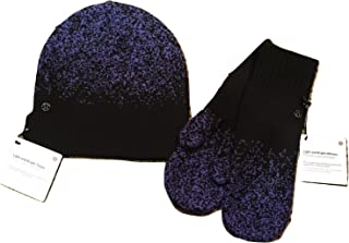 Light and Bright Mittens Gloves & Toque set Stardust Blue Merino Wool - One Size- Stay WARM