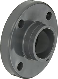 GF Piping Systems PVC Pipe Fitting, Flange, Schedule 80, Gray, 2