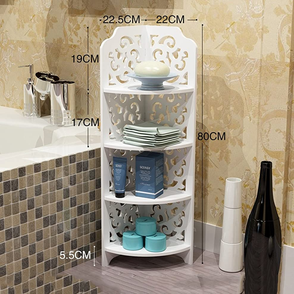 立派な荒廃する代わりのYSDHE 浴室の壁のコーナーランディングトライアングル多層トイレWCストレージラックを棚バスルーム