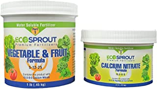 EcoSprout Premium Fertilizers, Vegetable and Fruit Formula, 24 oz of Perfectly Balanced NPK (16 oz Nutrients 5-12-25, 8 oz...