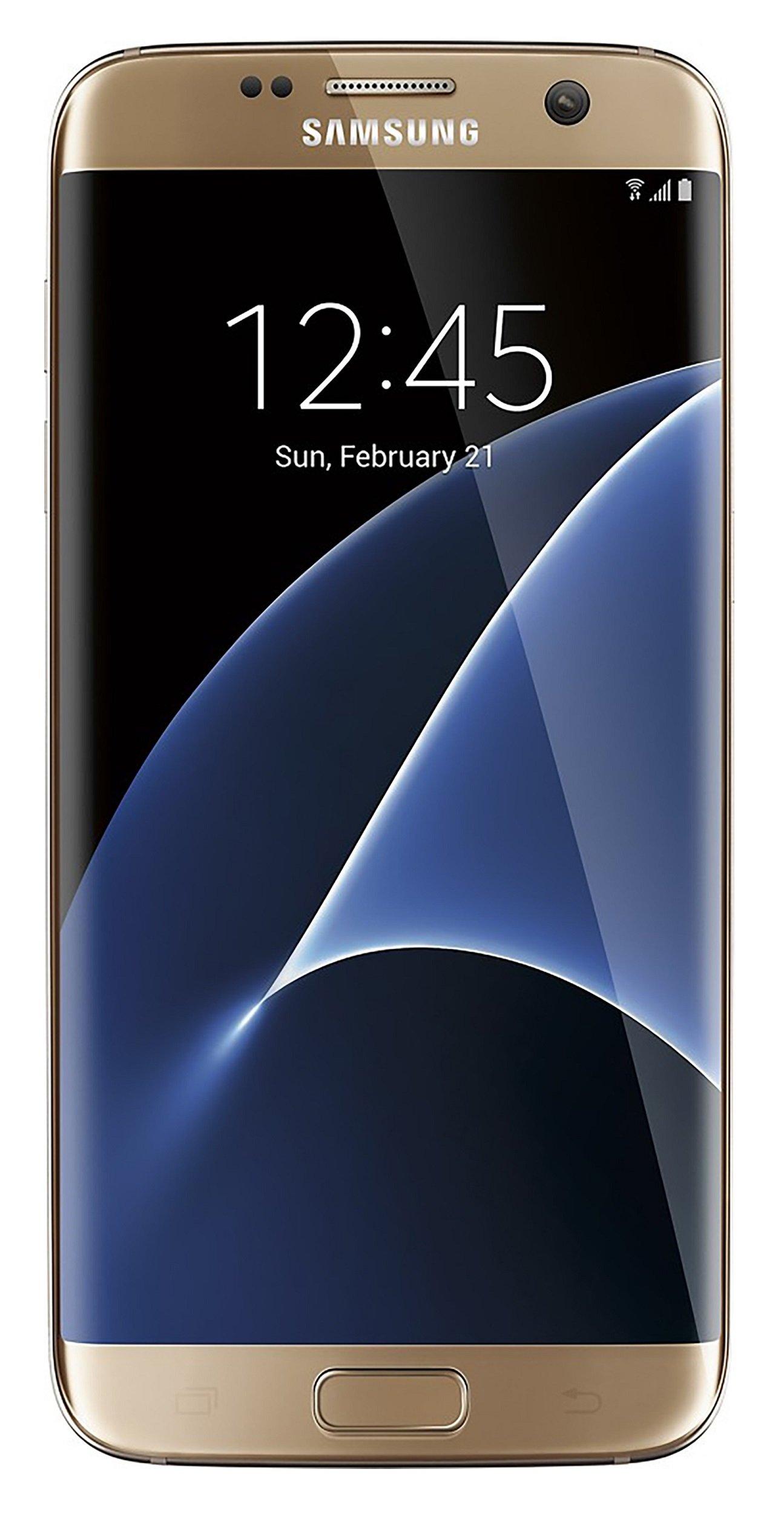 Samsung Galaxy S7 Edge Verizon Wireless CDMA 4G LTE Smartphone w/ 12MP Camera and Infinity Screen - Gold
