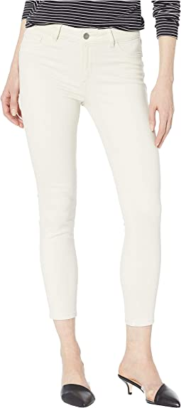 Florence Crop Mid-Rise Skinny in Ivory