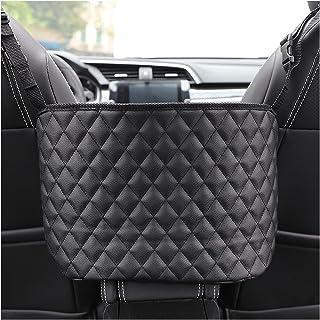 HUIHUI Store Car Handbag Holder Luxury Leather Seat Back Organizer Mesh Large Capacity Bag Automotive Goods Storage Pocket...