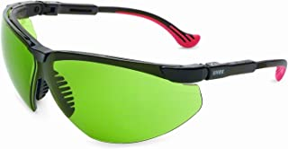 Uvex by Honeywell Genesis XC Safety Glasses, Black Frame with Shade 2.0 Infra-Dura