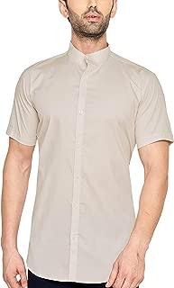True United Men's Solid Half Sleeve Shirt