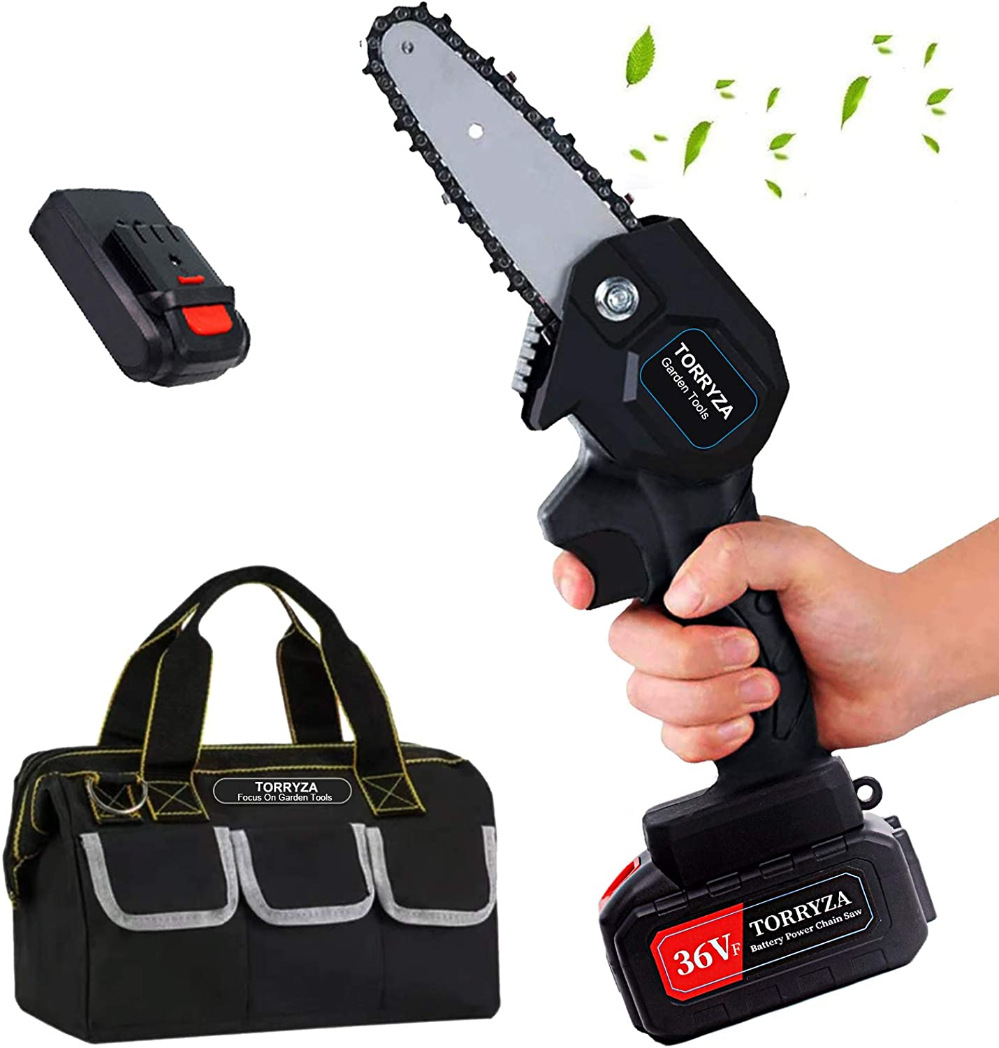 TORRYZA Mini Chainsaw 4-Inch One-Hand Excellence Portable Cordless Max 84% OFF