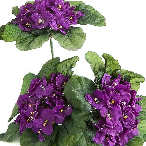 Violet Silk Flowers Amazon