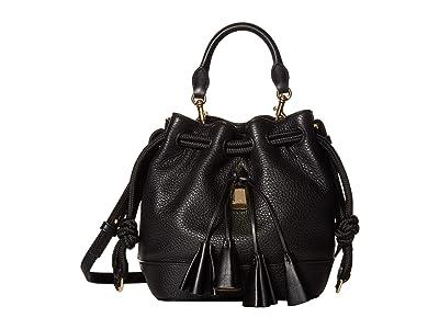 Marc Jacobs Sofia Loves The Drawstring Leather (Black Multi) Handbags