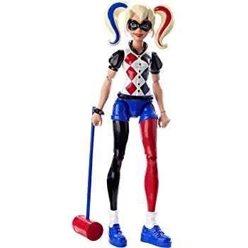 "6 Pcs DC Comic Super Hero Girls Harley Quinn Batgirl 6/"" Action Figure Model New"