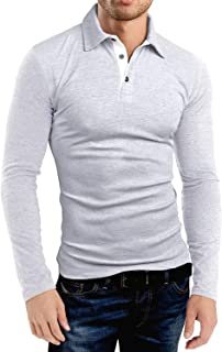 KUYIGO Men's Short Sleeve Polo Shirts Casual Slim Fit Basic Designed Cotton Shirts