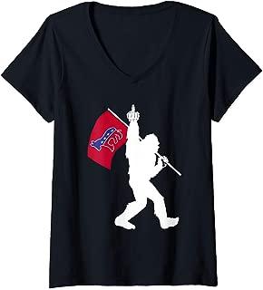 Womens Bigfoot Democrat Donkey Up Yours Republicans 2020 Election V-Neck T-Shirt