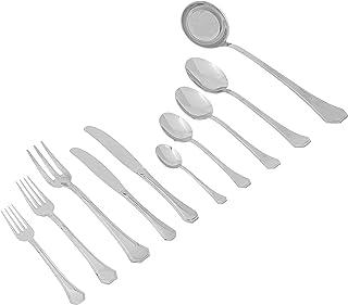 Mepra 101722087 Flatware Set, [87 Piece, Metallic Finish, Dishwasher Safe Cutlery
