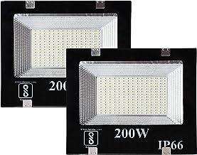Gesto 200 Watt Ultra Thin Slim Ip66 LED Flood Outdoor Light Cool White Waterproof- 200W,Pack of 2