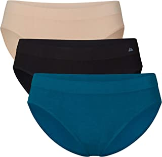 Seamless Bamboo Bikini Panties for Women, 3 Pack, Soft Premi