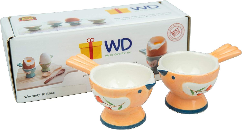 WD - Lot of 2 Pcs Cute Bird Serve Ceramic Fort Worth Mall Hard Ranking TOP6 Shape soft or boi