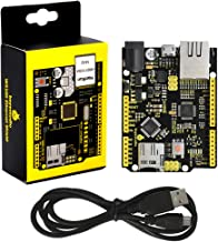 KEYESTUDIO W5500 Ethernet Development Board(Without Poe)+USB Cable for Arduino, UNO R3+W5500 Ethernet
