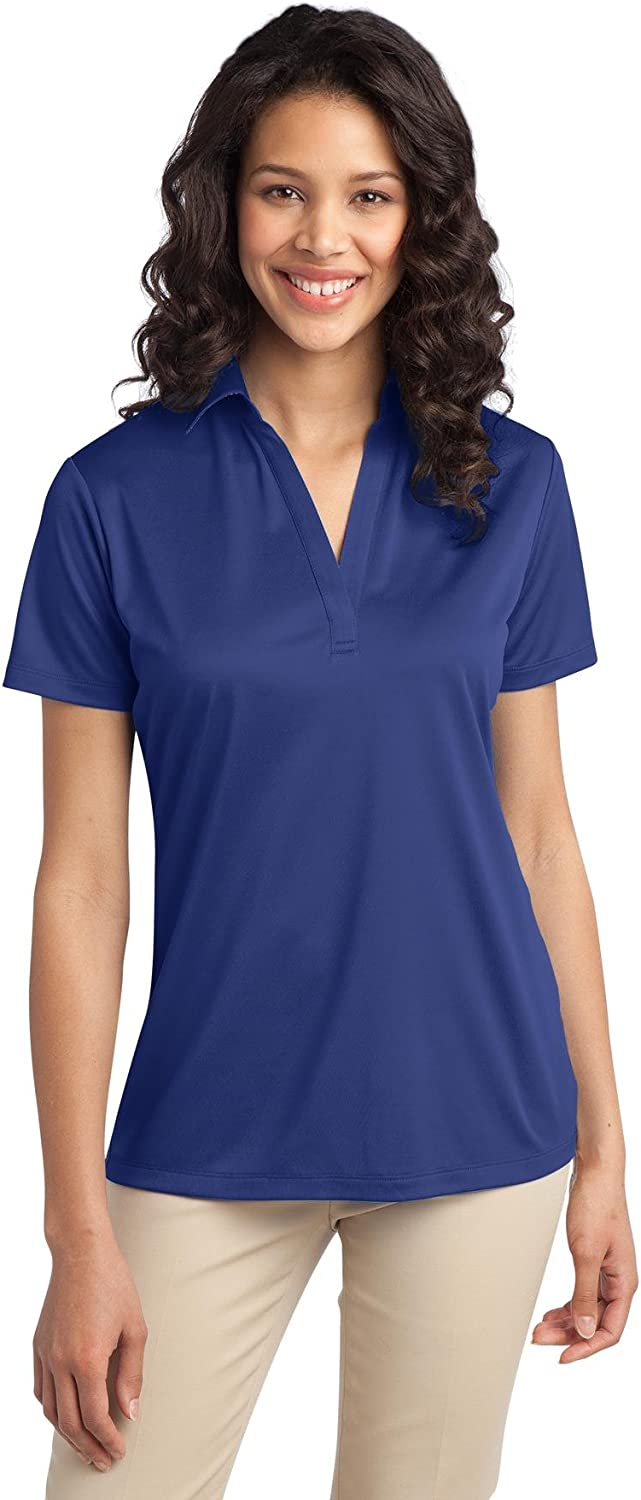 Port Authority L540 Ladies Silk Touch Performance Polo Small Royal - 2 Pack