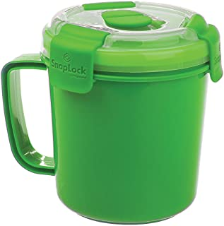 SnapLock by Progressive Soup To-Go Container – Green, SNL-1003G Easy-To-Open, Cool..
