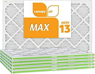 Canopy Air 16x25x1, MAX AC Furnace Air Filter, MERV 13, Made in The USA, 6-Pack (Actual Size 15 1/2