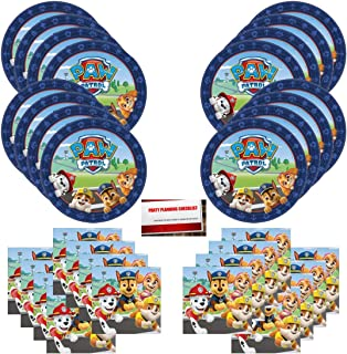 Paw Patrol Adventures Birthday Party Supplies Bundle Pack for 16 Guests (Plus Party Planning Checklist by Mikes Super Store)