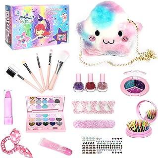 Girls Makeup Kit for Kids Children's Makeup Set Girls Princess Make Up Box Nontoxic Cosmetics Kit Toys Pretend Play Makeup...