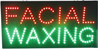 LED Facial Waxing Light Sign Super Bright Electric Advertising Display Board for Nails Spa Pedicure Beauty Salon Business Shop Store Window Bedroom 24 x 12 inches