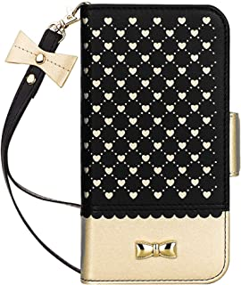 Jasilon iPhone 11 Pro Max Case Cover 6.5'' 2019, [Deluxe Love] Premium Leather Wallet case with [Card Holder, Strap, Kickstand, Mirror], Flip Folio iPhone 11 Pro Max Phone Case for Women-Black