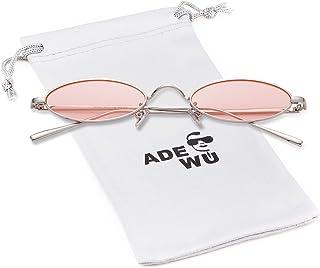 Adewu Metal Oval & Round Sunglasses Unisex Fashion Vintage Glasses Men Women