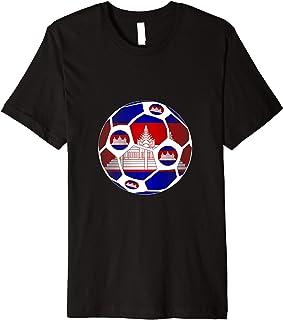 Cambodia Soccer Ball Flag - Football Sports Fan  Premium T-Shirt